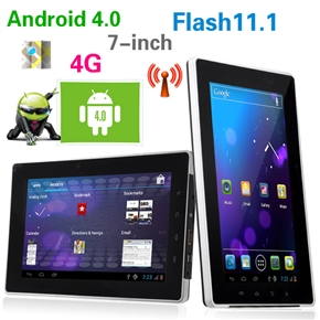 Telechips TCC8923 800MHz 512M/4G Android 4.0 7-inch Capacitive Touchscreen Tablet PC with WiFi HDMI Dual-camera (Black)