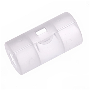 Transparent AAA to C Battery Converter Case Holder Shell