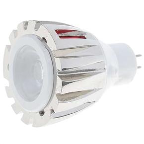 White Lighting MR16 1W 12V 90 Lumen 6500K 1 LED Lamp Light Bulb (Silver)