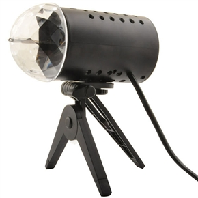3W AC85-260V Colorful RGB LED Crystal Rotating Stage Light LED DJ Party Disco Light Lamp (Black)