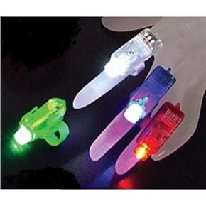 Cool LED Flashing Laser Finger Light LED Finger Light Lamp with Elastic Band - 4 pcs/set (Red+Green+Blue+White)
