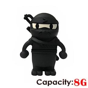 Cool Ninja Shaped 8GB USB 2.0 Flash Drive U-disk USB Flash Memory (Black)