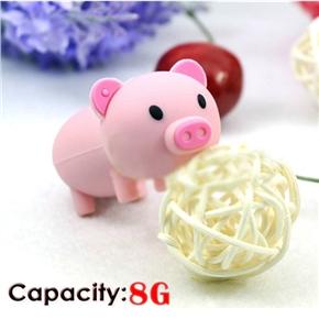 Cute Mini Cartoon Pig Shaped 8GB USB 2.0 Flash Drive Stick U-disk USB Flash Memory (Pink)