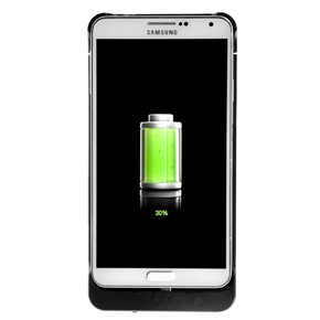 4200mAh Mobile Power Bank Backup Battery Protective Back Case with Stand for Samsung Galaxy Note III /N9000 (Black)