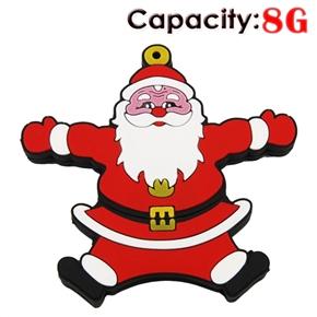 8GB Hug Santa Claus USB Flash Drive (Red)