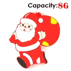 8GB Running Santa Claus USB Flash Drives Disk (Red)