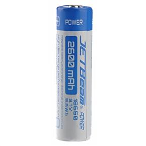 JETBEAM 2600mAh 3.7V 9.6Wh 18650 Rechargeable Li-ion Battery