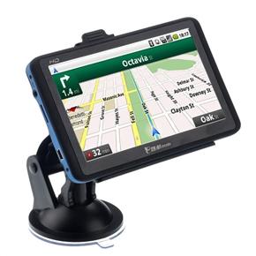 918 5-inch Resistive Screen Windows CE 6.0 Car GPS Navigator with AV-in /Bluetooth /4GB TF Card (Black & Blue)