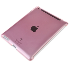 Clear Crystal Case Skin Cover for iPad2 (Pink)