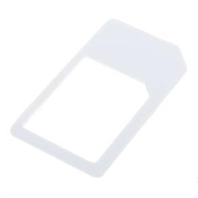 Mini Micro SIM Card Adapter for iPhone4G/iPad (White)