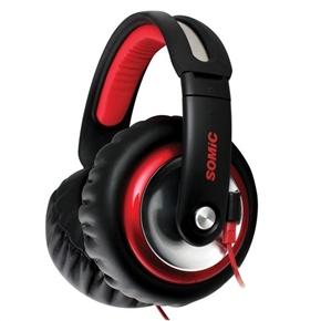 SOMiC MH489 Head-band Type 3.5mm-jack Stereo HIFI Music Headset Headphone (Black & Red)