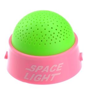 Creative Starry Sky LED Projector Night Light Baby Kid Sleep Light with Music (Pink & Green)
