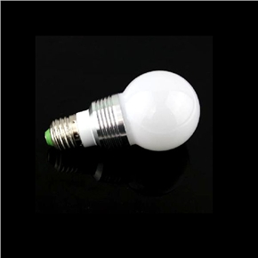 E27 3W AC 85V-265V Remote-controlled 16-color Changing RGB LED Light Lamp Bulb