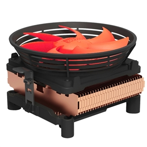 PCCooler Q100M Super-silent CPU Cooler with 100mm Detachable PWM Fan for Intel & AMD (Orange)