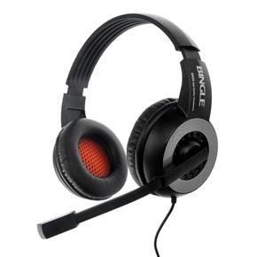 Bingle B326 Head-band Type 3.5mm-plug Wired Stereo Headphones Headset with Microphone & Volume Control (Black)