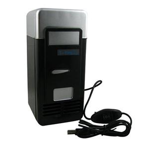 Creative Cooling & Heating Dual-use USB Powered Mini Fridge Refrigerator (Black)