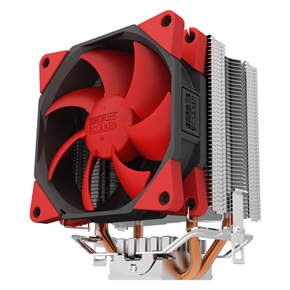 PCCooler S98 Super-silent Shock-absorbing CPU Cooler with Detachable Fan for Intel & AMD (Red)