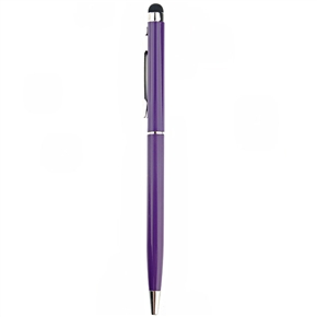 2-in-1 Universal Capacitive Touch Screen Stylus Pen & Ballpoint Pen for iPhone /iPad /Smartphone (Purple)