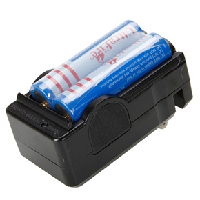 2pcs UltraFire 18650 3.7V 3600mAh Rechargeable Lithium Battery & 18650 Battery Charger Set