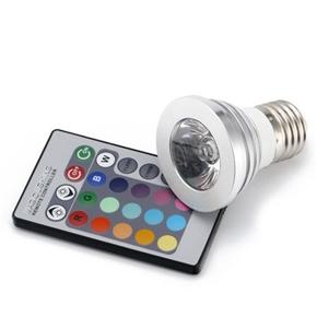 E27 85V-265V 3W Multi-color RGB LED Light Lamp Bulb with IR Remote Controller