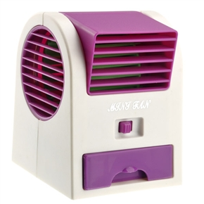 No.1360 3 * AA /USB Powered Mini Fragrance Air-conditioning Cooling Fan for Laptop /Notebook /PC (Purple)