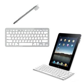 Ultra-slim 78-keys Wireless Bluetooth V2.0 Keyboard Keypad for iPad /iPhone /Macbook /Windows PC (White+Silver)