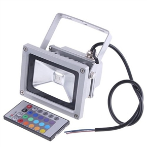 10W 85-265V SMD RGB Remote Control Waterproof LED Flood Light Spotlight for Indoor & Outdoor Use