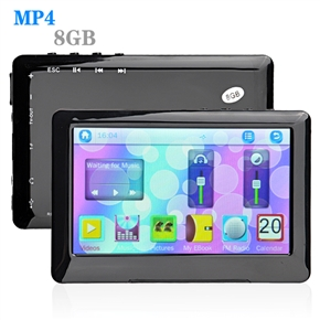 4.4 Inch Touchscreen 8GB MP4 Player with 32G TF Slot Recorder FM TV-Out (Black)