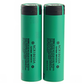 High-performance 3.7V 3100mAh NCR 18650A Rechargeable Li-ion Battery - One Pair (Green)