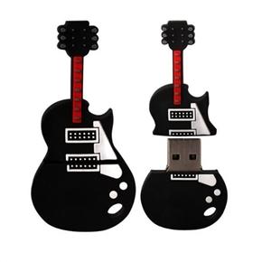 Novelty Guitar Shaped Soft Rubber 8GB USB Flash Drive Pocket U-disk (Black)