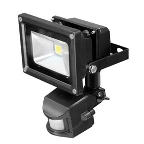 10W AC85-265V IP54 Waterproof PIR Motion Sensor Warm White Adjustable LED Floodlight Garden Lamp (Black)