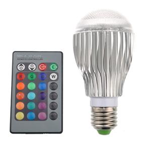9W AC 85V-265V E27 16-Color Changing RGB LED Bulb Lamp Light with IR Remote Control