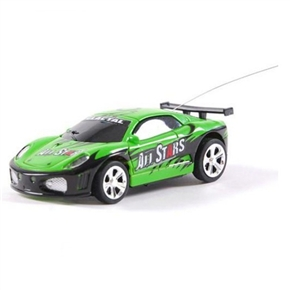 No.2010B-7 1:58 Scale 40MHz Mini RC Radio Remote Control Racing Car Packaged in a Coke Can (Green)