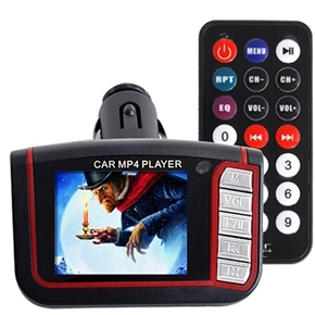 Portable 1.8-inch LCD Display Remote Control Car MP4 Player with FM Transmitter & SD/MMC Slot & USB Jack