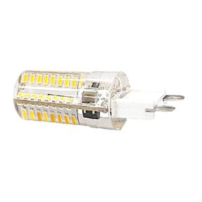 10pcs 220-240V 5W G9 64 SMD 3014 Energy-saving LED Spotlight Bulbs LED Replacement Halogen Capsule Bulbs (Warm White)