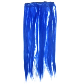 Cool One-piece Clip-on Magic Long Straight Hair Wig Synthetic Hair Hairpiece (Dark Blue)