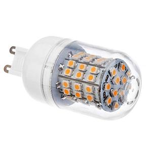 G9 3.5W AC110V 60 SMD 3528 Warm White 300-320LM 3000-3500K LED Corn Light Bulb Lamp