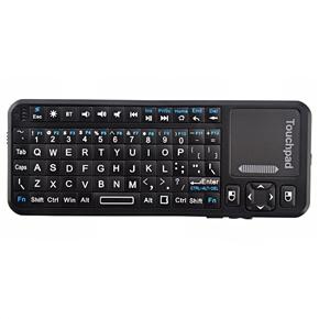 iPazzPort KP-810-10BTT Mini Wireless Bluetooth Keyboard & Mouse & Touchpad & Laser Pointer Combo (Black)