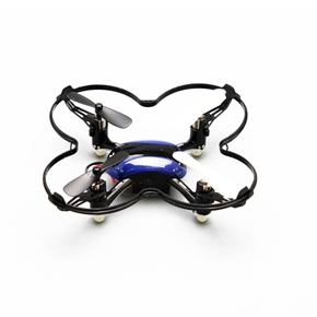 Skytech M67 Mini 2.4GHz 4CH 6-Axis Gyro 360-degree Eversion Headless Mode Remote Control RC Quadcopter UFO with LED Lights (Blue)
