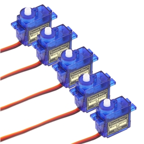 5pcs TowerPro SG90 9g Small Micro Servo Motor with Accessories for RC Robot /Helicopter /Airplane