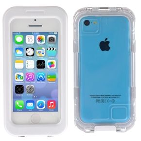 Multi-functional Waterproof Dustproof Screen Touchable PC + Silicone Protective Phone Case Cover Skin Shell for iPhone 5S /iPhone 5C /iPhone 5 /iPhone 4S /iPhone 4 (White)