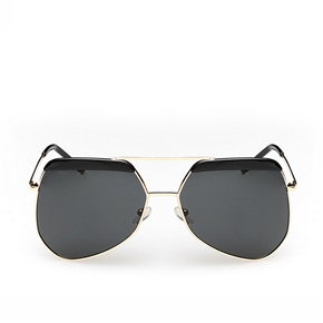 Fashion Unisex Men's Women's Metal Frame UV400 Protection Polarized Toad Sunglasses Sun Glasses (Black)