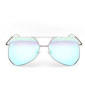 Fashion Unisex Men's Women's Metal Frame UV400 Protection Polarized Toad Sunglasses Sun Glasses (Light Green)