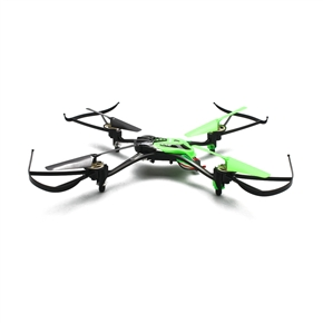 HuaXiang NO.8927 2.4GHz 4CH 6-Axis Gyro 360-degree Eversion Mini RC Quadcopter Drone with 0.3MP Camera /2GB TF Card /LED Lights (Green)