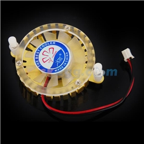 2 Pins Connector Round VGA Card Display Card Processor Cooling Fan (Golden)