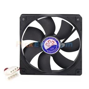 3-Pin & 4-Pin Connector Computer Tower Cooling Fan (Black)