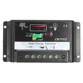 CMTP02-15A 15A 12V 24V PWM Solar Panel Battery Regulator Solar Charge Controller (Black)