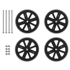 Replacement Spare Parts Motor Pinion Gears & Main Gears & Shafts Set for Parrot AR.Drone 2.0 & 1.0 Quadcopter (Black)