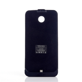4200mAh Mobile Power Bank Backup Battery PU Back Case with Stand for Google Nexus 6/ MOTO Nexus6/Shamu /XT1100/XT1103 (Black)