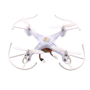 CSJ-X6 2.4GHz 4CH 6-Axis Gyro 360-degree Eversion Remote Control RC Quadcopter UFO (White)
